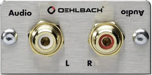 Stereo Cinch (R/L) Multimedia-Einsatz mit Kabelpeitsche Oehlbach PRO IN MMT-C AUDIO