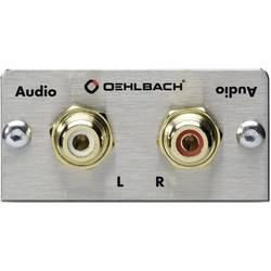 Image of Oehlbach PRO IN MMT AUDIO Stereo Cinch (R/L) Multimedia-Einsatz mit Lötanschluss