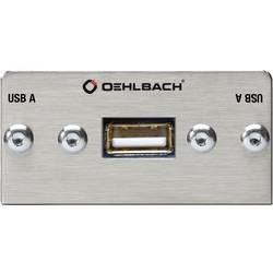Image of Oehlbach PRO IN MMT-C USB.2 A/B USB 2.0 Multimedia-Einsatz mit Kabelpeitsche