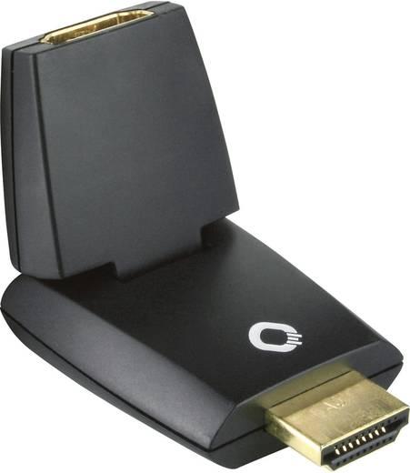 HDMI Adapter [1x HDMI-Stecker - 1x HDMI-Buchse] Schwarz vergoldete Steckkontakte Oehlbach
