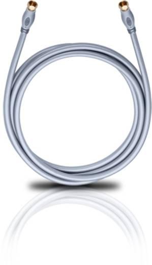 SAT Anschlusskabel [1x F-Stecker - 1x F-Stecker] 10 m 120 dB vergoldete Steckkontakte Silber Oehlbach Transmission Plus 1000 S