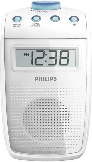 UKW Badradio Philips AE2330 MW, UKW spritzwassergeschützt Weiß