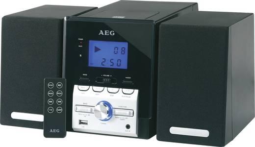 Stereoanlage AEG MC 4443 AUX, CD, USB, MW, UKW, Schwarz