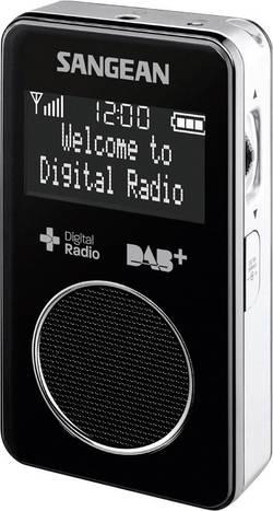 DAB+, FM vreckové rádio Sangean DPR-34+, DAB+, UKW, čierna