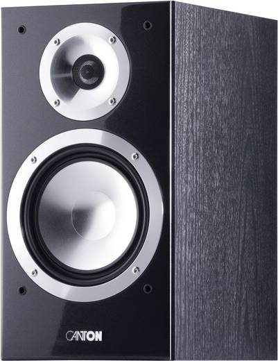 Canton Chrono 502 DC Regallautsprecher Schwarz high-gloss 100 W 33 bis 40000 Hz 1 Paar