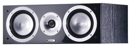 Canton Central GLE 455 noir ultra-brillant Centerlautsprecher Schwarz high-gloss 140 W 400 bis 3000 Hz 1 St.