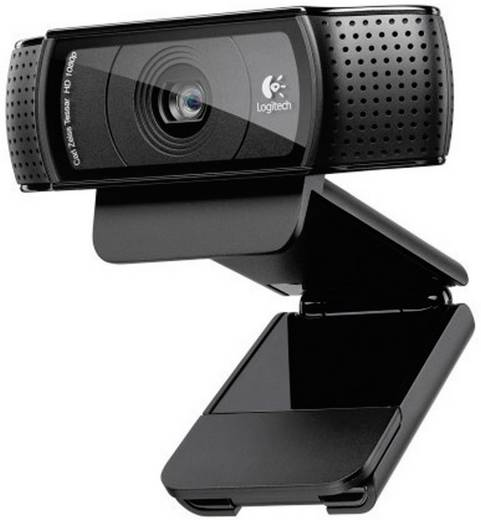 Logitech HD Pro Webcam C920 Full HD-Webcam 1920 x 1080 Pixel Klemm-Halterung