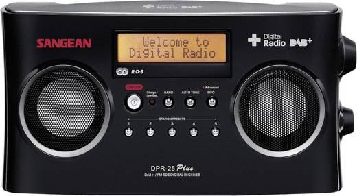 DAB+ Kofferradio Sangean DPR-25+ AUX, DAB+, UKW Akku-Ladefunktion Schwarz