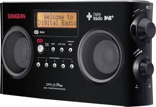 Sangean DPR-25+ DAB+ Kofferradio AUX, DAB+, UKW Akku-Ladefunktion Schwarz