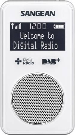 Kapesní DAB+ rádio Sangean DPR-34+, FM, bílá