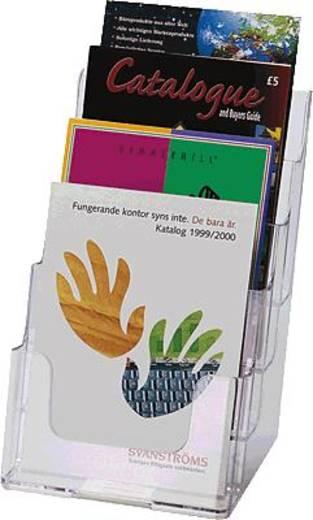 Deflecto 4-Fach Tischprospekthalter A5/77901 DIN A5 glasklar 4-Fächer