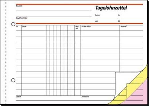 Sigel Tagelohnbuch/SD065 A5 q Inh.3x40 BL