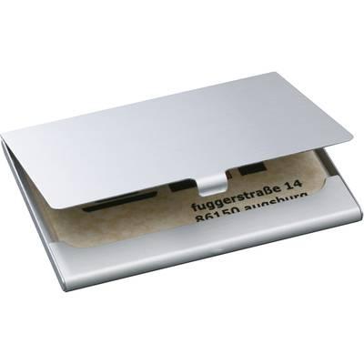 Sigel Visitenkartenetui 15 Karten B X H X T 92 X 63 X 5 Mm Silber Matt Aluminium Vz135