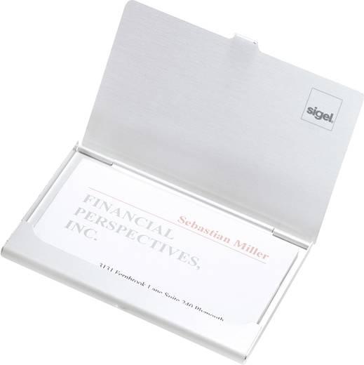 sigel Visitenkartenetui/VZ135 91x58 mm silber, Inh.für 15 Karten