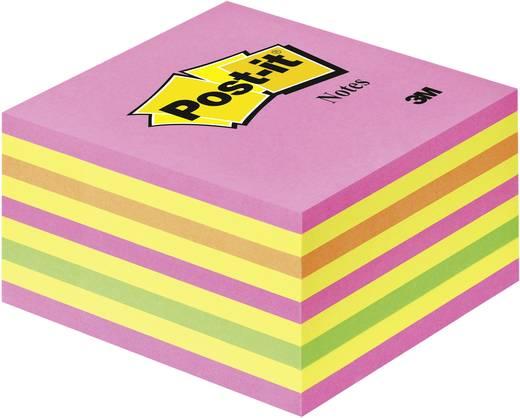 Post-it® Haftnotizwürfel 2028NP 76x76x45 mm 450 Bl. neonpink, neongrün, rosa, gelb