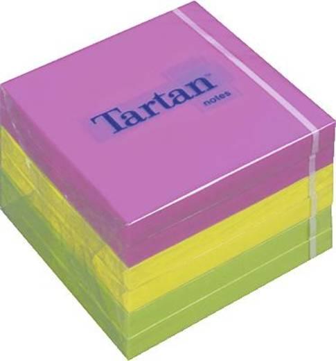 Tartan™ Haftnotizen/7676N 76x76 mm neon Inh.6