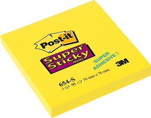 Post-it® Notes Super Sticky/654S 76x76 mm narzissengelb Inh.90 Blatt