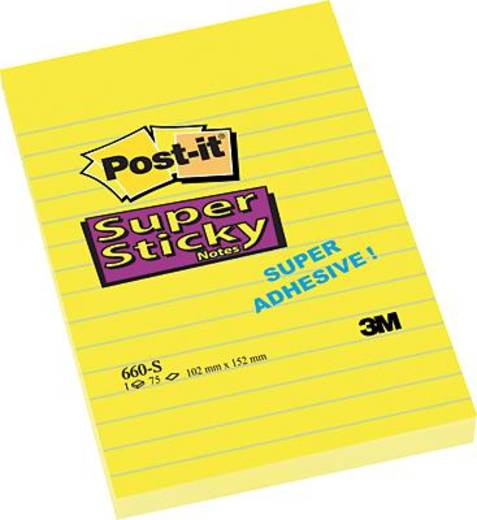 Post-it® Notes Super Sticky/660S 102x152 mm narzissengelb liniert Inh.75 Blatt