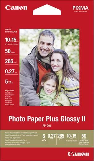 Fotopapier Canon Photo Paper Plus PP-201 2311B003 10 x 15 cm 265 g/m² 50 Blatt Glänzend