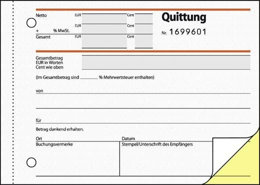 Sigel Quittung/SD121 A6 q Inh.2x50 BL