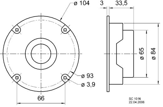 Hochton-Kalotte Visaton SC 10 N 100 W 8 Ω