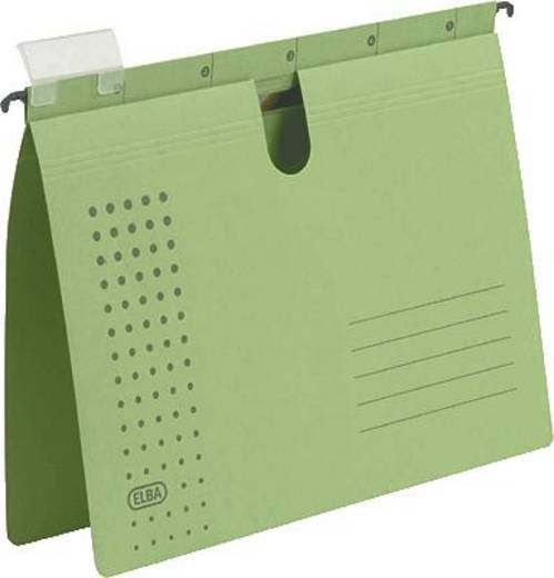 Elba Hängehefter chic/85802GN A4 grün Karton (RC) 230 g/m² Inh.5