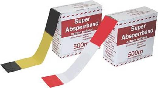 Warn- und Absperrband/46220SZ 80mm x 500m gelb/schwarz