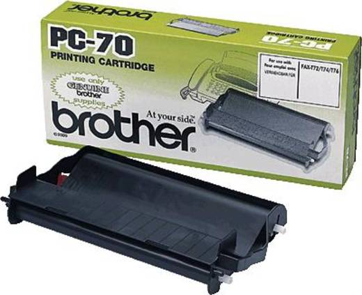 Brother Thermo-Transfer-Rolle Fax Original 144 Seiten Schwarz 1 Rolle(n) PC-70 PC70