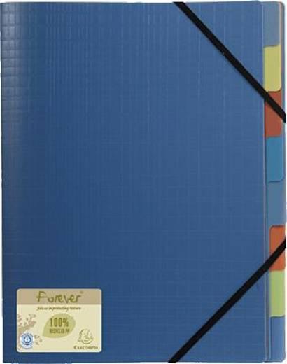 Exacompta Ordnungsmappe 8-teilig forever Recycled PP/552572E 320x245mm blau