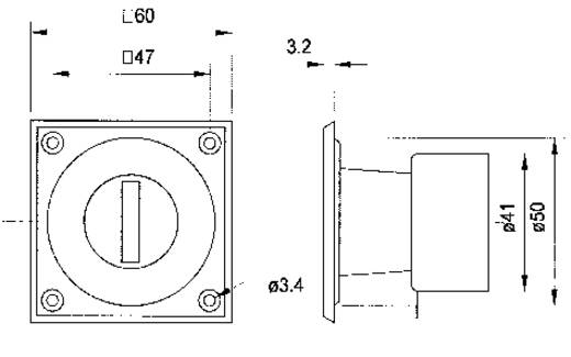 Mono Einbau Lautstärke-Regler Visaton VIS. LC 57 20 W
