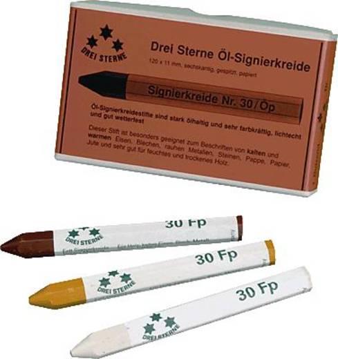 DREI STERNE Fettsignierkreide weiß/30Fp1 120x11mm 6-kant papiert Inh.12