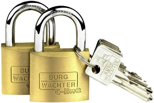 Vorhängeschloss Burg Wächter 2er Set Quadro 222 40 SB Messing Schlüsselschloss
