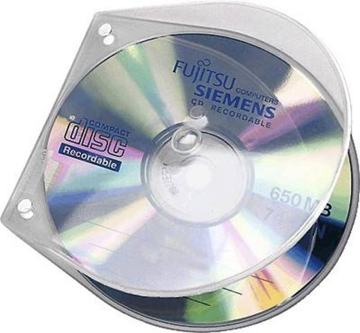 Veloflex CD-Transportbox/4365000 125 x 125 x 4 mm transparent PP Inh.10 Transparent A4 Ringbücher gelocht (L x B x H) 125 x 125 x 4 mm Veloflex