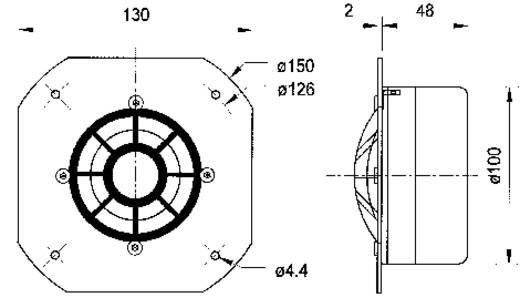 Hochton-Kalotte Visaton DSM 50 FFL 120 W 8 Ω