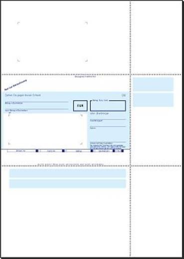 sigel PC-Verrechnungs-Scheck/ZV532 A4 90 g Inh.250