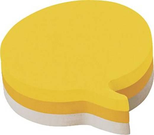 Post-it® Haftnotizwürfel /2007SP 70x70mm 3farbig Sprechblase Inh.225 Blatt