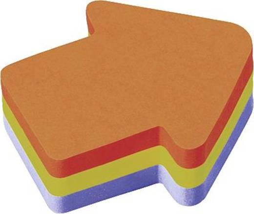 Post-it® Haftnotizwürfel Stanzform/2007A 70x70 mm 3farbig Pfeil Inh.225 Blatt