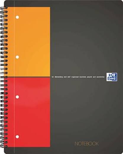 Oxford Notebook/357001202 A4+ orange/grau/rot liniert 6mm 80g/qm Inh.80 Blatt
