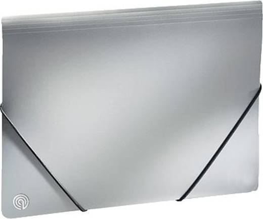 Ecobra Eckspannmappe Silver Shadow/940119 A4 silber-schwarz