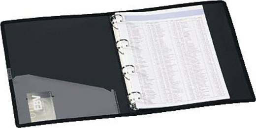 Ecobra Ringbuch Sliver Shadow/940115 A4/4 Ringe silber-schwarz