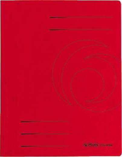 Herlitz Schnellhefter Colorspan/10902898 DIN A4 rot 355 g/qm