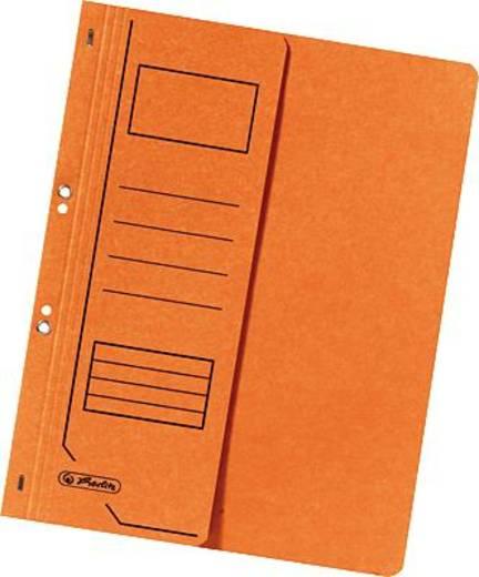 Herlitz Ösenhefter 1/2 Deckel/10837359 DIN A4 orange 250g