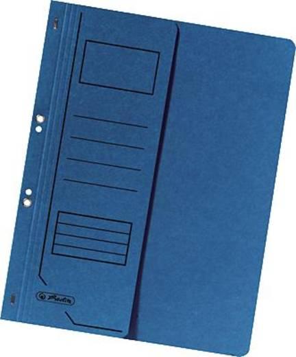 Herlitz Ösenhefter 1/2 Deckel/10836997 DIN A4 blau 250g