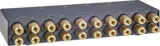 4 Port Lautsprecher-Umschalter vergoldete Steckkontakte B-Tech BT-913 Schwarz