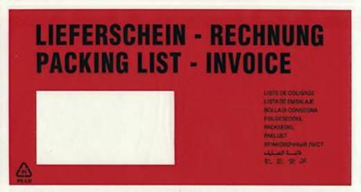 Dokumententaschen DL Lieferschein-Rechnung/522182 rot/schwarz 230x120mm Inh.1000