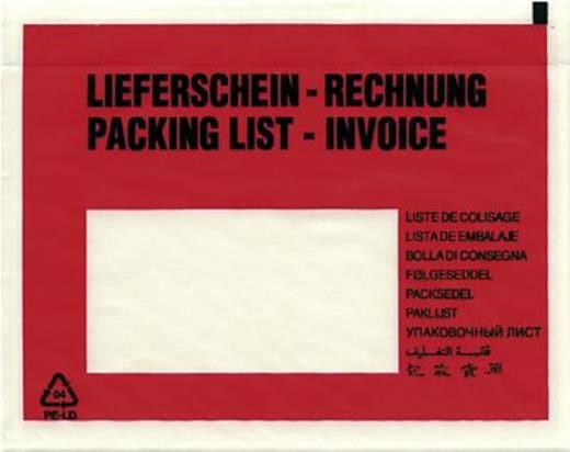 Dokumententaschen C6 Lieferschein-Rechnung/522184 rot/schwarz 165x120mm Inh.1000