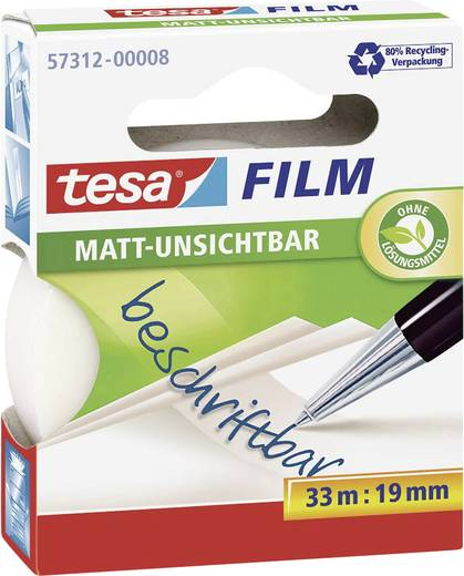 tesafilm tesafilm® Transparent (L x B) 33 m x 19 mm tesa 57312-00008-00 1 Rolle(n)