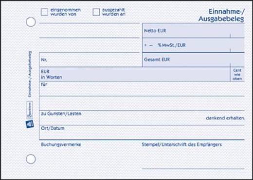 Avery Zweckform 1205 Einnahme-Ausgabebeleg, DIN A6 quer, recycling, 50 Blatt