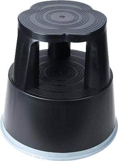 Kunststoff Rollhocker fahrbar Arbeitshöhe (max.): 430 mm RelX 266083 Schwarz
