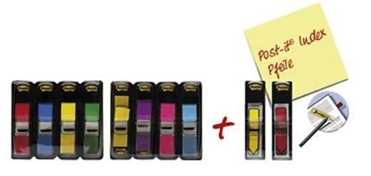 Post-it Index Mini 683-4 + 683-4AB 683-VAD1 11,9x43,2 mm Inh. 8x35 + 2x20
